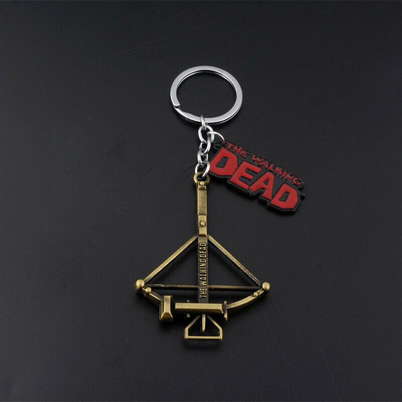 The Walking Dead Design Logo Crossbow Alloy Key Chains Keychain Keyfob Keyring