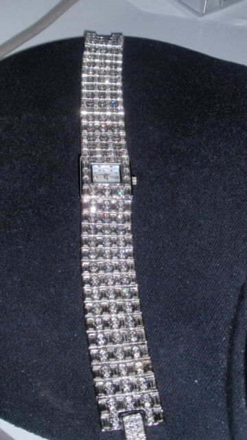 New Louis Arden Silver Dial  Ladies Crystals Watch