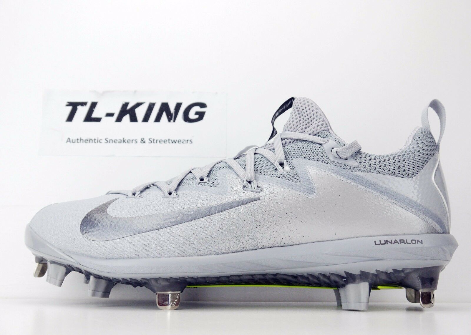 650e59cba27e Nike Lunar Vapor Ultrafly Elite Low Metal Baseball Cleats Grey 12 ...