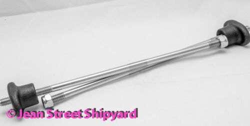 Marine Boat Premium Group 27 Battery Tray Box Stainless Hold Down Rods 21981
