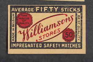 Ancienne étiquette Allumette Belgique Bn2229 Williamsons Lcypst2k-07235217-583324311