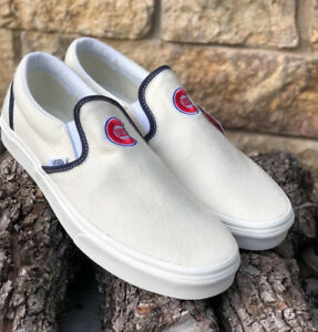 864593037d2 New! Vans X MLB Classic Slip On Chicago Cubs Wool Rare VN0A3UT7RTD ...