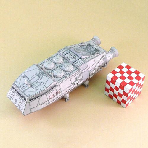 1:120 Scale Battlestar Galactica Colonial Shuttle DIY Handcraft Paper Model  pt