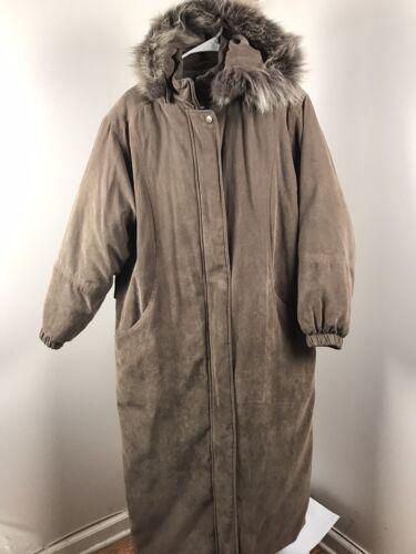 Bromley Sport Brown Full Length Coat Parka Fox Fur