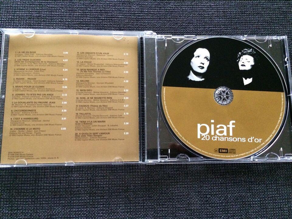 Edith Piaf: 20 Chansons D'Or, pop