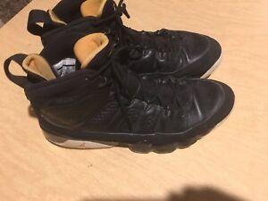 online store de357 c2aa2 Image is loading Nike-Air-Jordan-IX-9-Retro-BLACK-CITRUS-