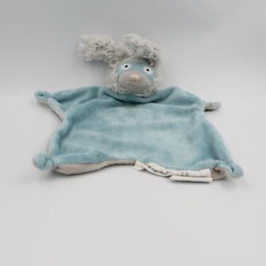 Doudou plat lapin gris bleu super héros BLOOMINGVILLE - Lapin Plat, Semi plat