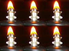 Set of SIX Glass Thermal Wick Tubes Mini Mason Jar Oil Lamps 1.25 inches long