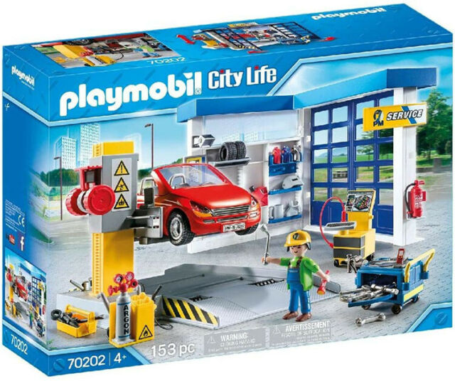 Playmobil City Life Car Repair Garage 70202 (for Kids 4 years old and up)