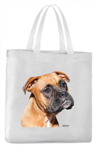 Tragetasche mit Bild Boxer Hund Beutel Einkaufstasche Stoff