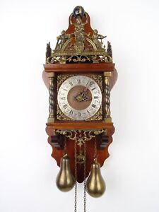 Zaanse Repair Dutch Wall Clock Vintage Antique Warmink