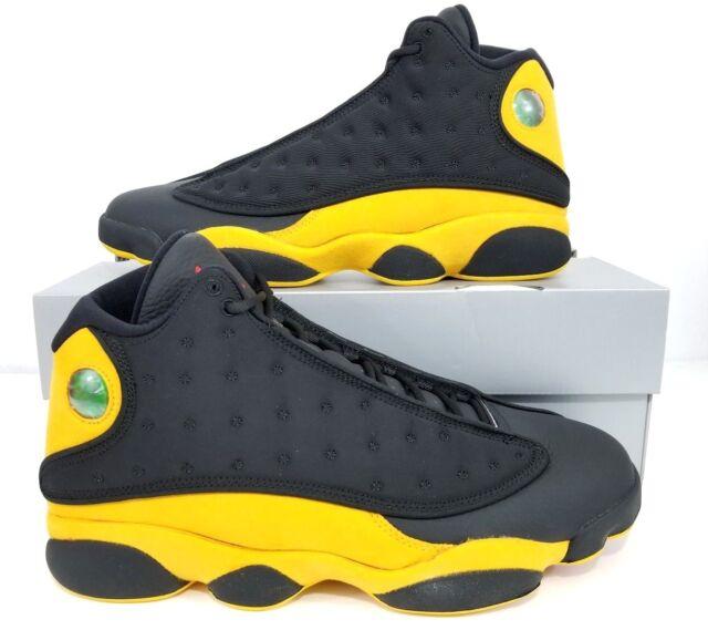 online store bd6e8 3056e Nike Air Jordan 13 Retro Melo Class of 2002 Black Yellow 414571-035 Size 11