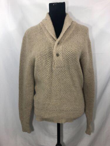 Vintage Welgrume Womens Size Small Beige Wool Blen