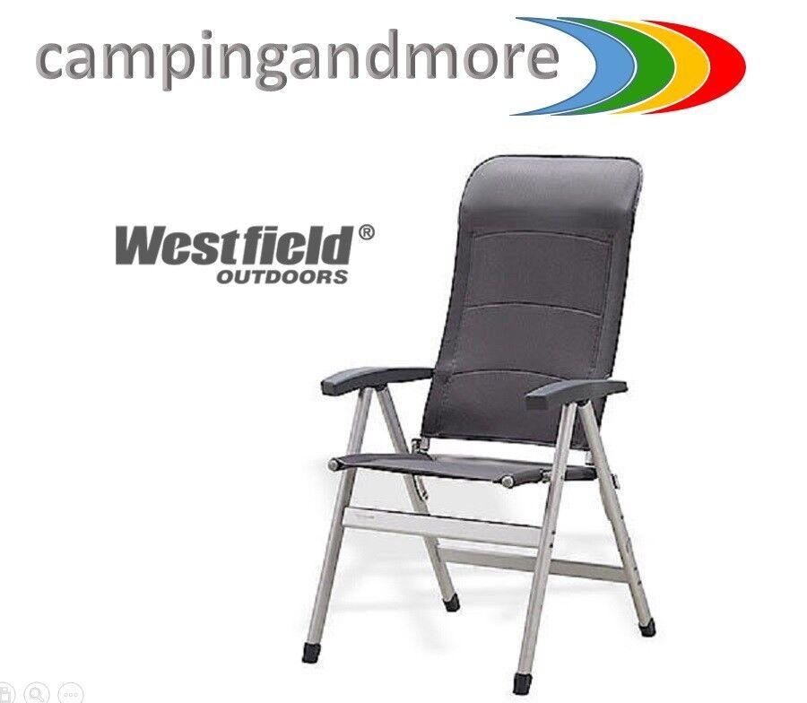 Westfield Campingstuhl Discoverer  Klappstuhl Camping Model 2019 grau