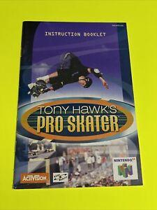TONY HAWKS PRO SKATER - N64 Instruction Booklet Manual Book Original Nintendo 64