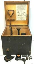 Vintage Ashcroft Type 1300 Dead Weight Gauge Tester Curtiss Wright In Wood Box