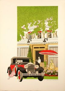 Original-Vintage-Poster-Noyer-Denis-Paul-Ledoyen-Restaurant-Paris-1979
