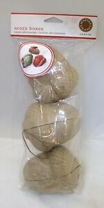 2008-MIP-Martha-Stewart-Crafts-Acorn-Boxes-3-in-Package-Never-Opened-Christmas