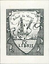 Hubert de Vries.  bookplate JD.62