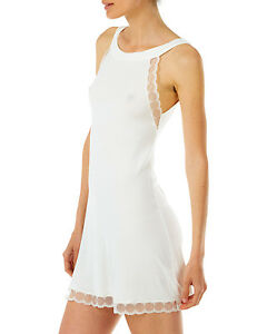 Tata-Italian-Short-Micro-Modal-Nightdress-with-Mesh-Inserts-Black-or-Ivory
