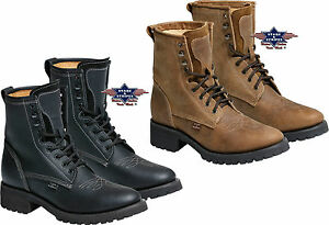 Stiefel-Outdoor-Boots-Leder-Schwarz-Braun-Country-Westernstiefel-WB34-WB35