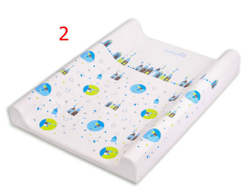 LUXURY BABY CHANGING MAT PADDED HARD BASE WITH SAFETY LOCKS WATERPROOF BOY GIRL