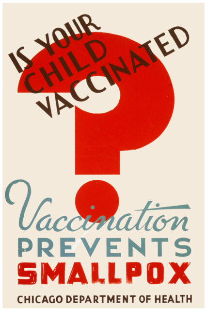 2642 Is your child vaccinated?Prevent smallpox healthcare Poster.Home decor art