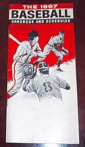 Baseball handbook and schedules 1967 Hank Aaron / Sandy koufax