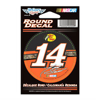 "TONY STEWART #14 BASS PRO SHOPS NASCAR 3"" ROUND DECAL STICKER"