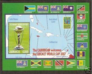 JAMAICA-2007-ICC-CRICKET-WORLD-CUP-FLAGS-Souvenir-Sheet-MNH