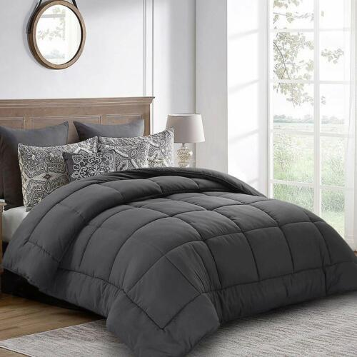 64 by 88 inches Balichun Twin Comforter Grey Down Alternative Comforters Sof
