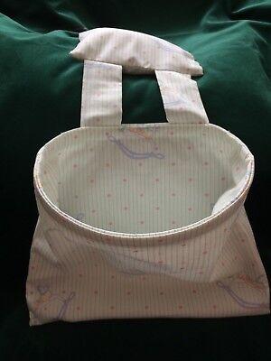 Disinteressato Vintage Laura Ashley Fabric-pannolino Storage Bag Per Poltrona-