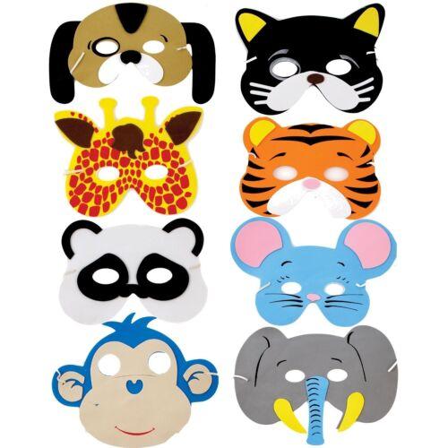 1 single mask 8 different animal foam masks