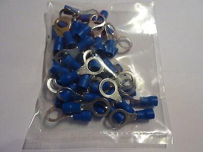 teilisoliert 50 Stück Ring M6  Oese gelbe Kabelschuhe für Kabel 4,0-6,0 mm²