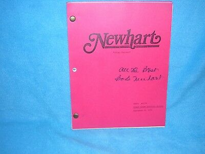 """Newhart Cool In Summer And Warm In Winter Entertainment Memorabilia Television Inventive Bob Newhart """"newhart Utley Exposed"""" Script Signed And Note From Mr"""