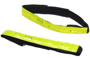 2 x NASTRO REFLEX Riflettore Nastro Illuminazione + blinkfunktion Riflettore Nastro Giallo Neon