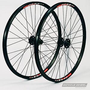 26-034-DT-Swiss-E540-Black-Shimano-XT-M756-hubs-Mountain-Bike-Wheel-Set-MTB