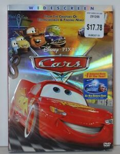 Dvd Movie Cars Disney Pixar Widescreen 2006 With Slip Cover