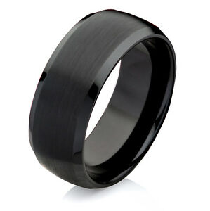 Eleganter-Ring-aus-Wolfram-Schwarz-mit-kostenloser-Ringe-Lasergravur-W754