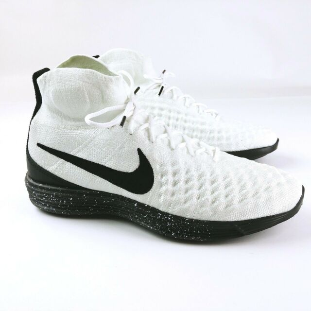 new concept 6a87b 7664e Nike Lunar Magista 876385-100 Polyester Yarn Flyknit Shoes Mens Size 9.5  for sale online   eBay