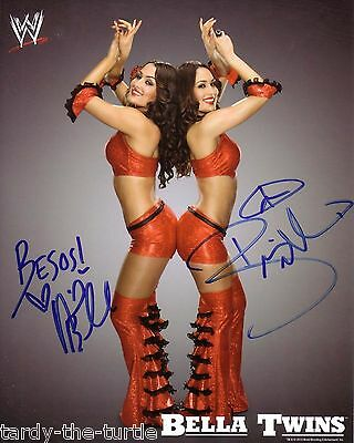 Nikki & Brie Bella  8 x 10 Autograph Reprint WWE Monday Night Raw Divas