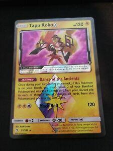 Pokemon-Tapu-Koko-Prism-Star-51-181-Holo-Rare-Team-Up-Near-Mint