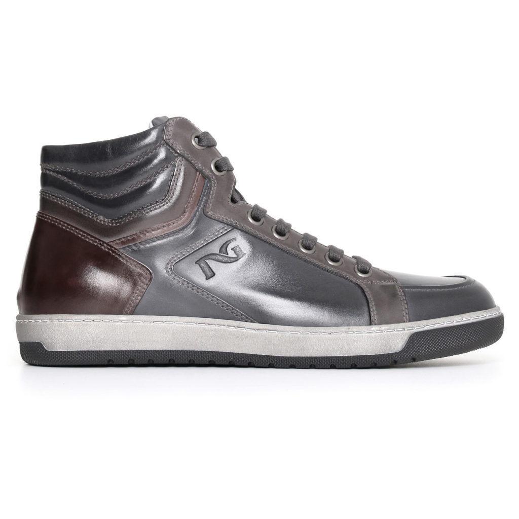 Basket high haut shoes à lacets en velours blackGIARDINI COLLECTION A705352U