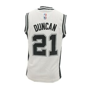 buy online c5cd6 4d4d5 Details about San Antonio Spurs Official NBA Adidas Kids Youth Size Tim  Duncan Jersey New Tags