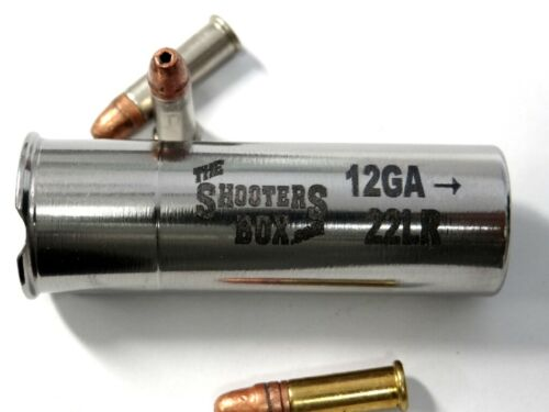 Free Ship /& Case! 12GA to 22LR//22short RIFLED BORE Shotgun Adapter Stainless