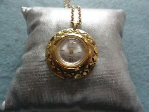 Swiss Made Lucerno Mechanical Wind Up Necklace Pendant Watch