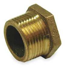 Zoro Select 1vfy5 Red Brass Hex Bushing Mnpt X Fnpt 1 X 14 Pipe Size