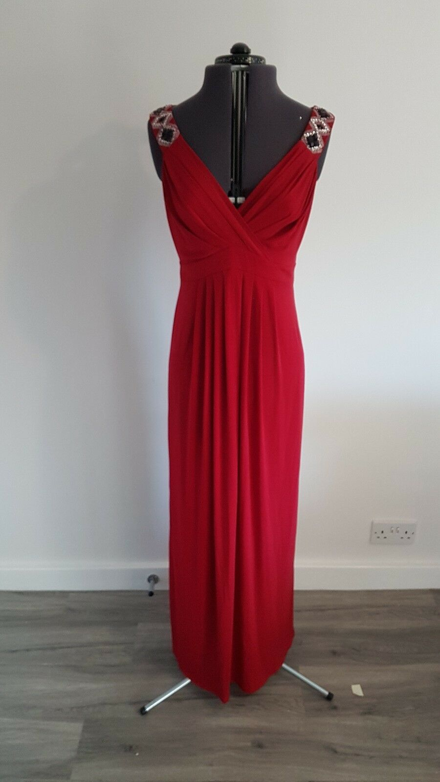 BHS long Red Evening Dress Size 12