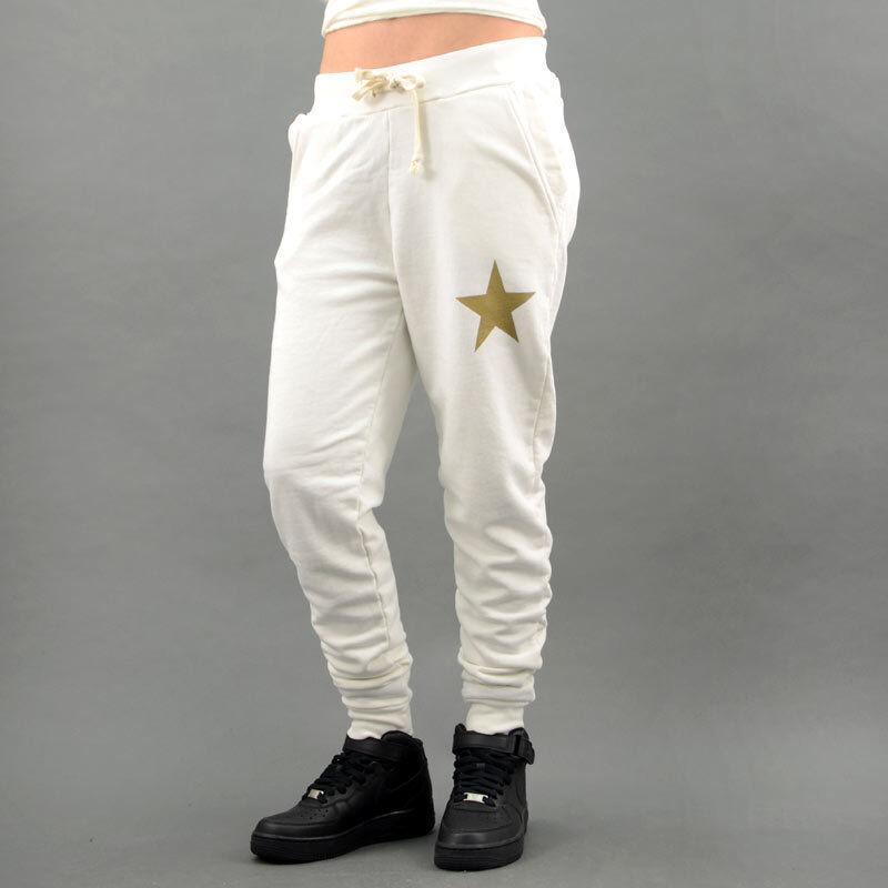 My T-Shirt PANTALONE COTONE STARS Panna mod. FLPV06