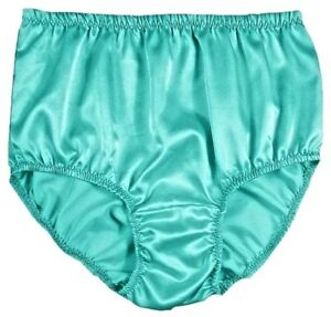 5e5d1205e7ae Image is loading VINTAGE-STYLE-TURQUOISE-SEMI-SHEER-SILKY-NYLON-PANTIES-